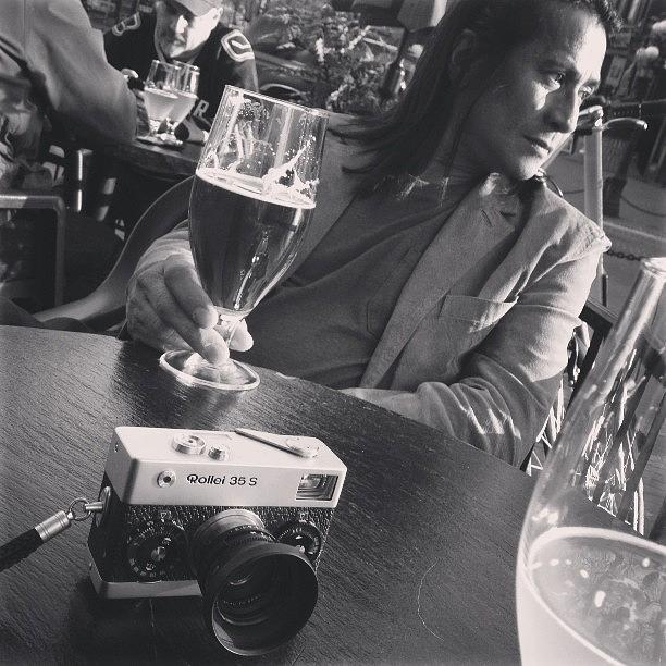 Gastown Photograph - #gastown #beers #blackandwhitefilm by Tonino Guzzo