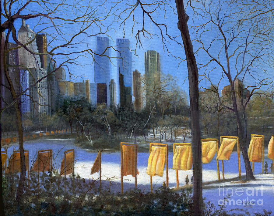 Landscape Painting - Gates Of New York by Marlene Book
