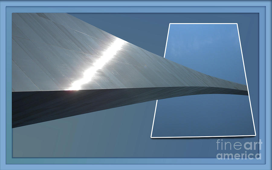Gateway Arch Photograph - Gateway Arch St Louis 06 by Thomas Woolworth