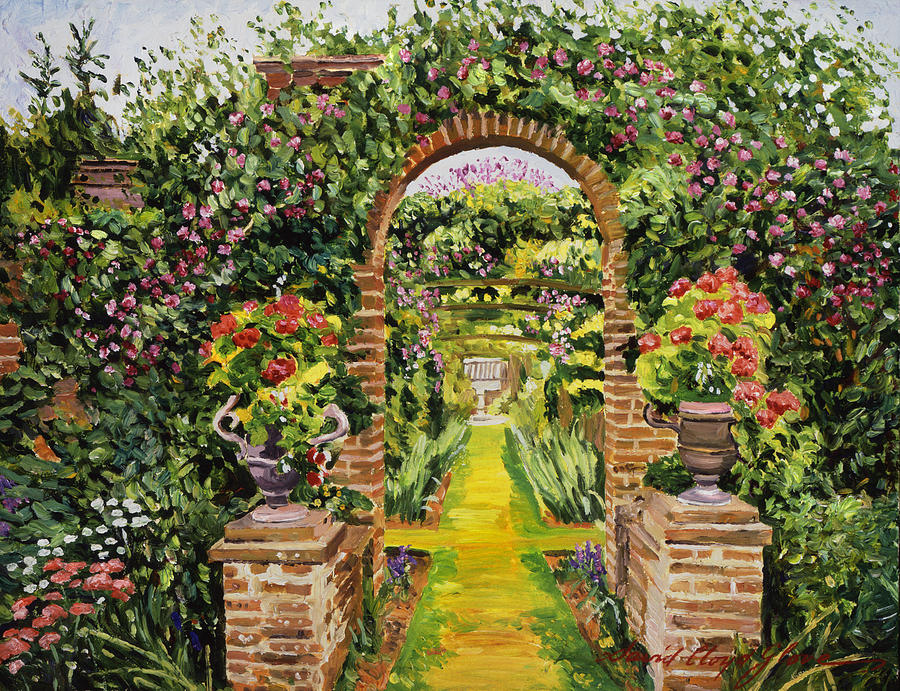 Gardenscapes Painting - Gateway Of Brick by David Lloyd Glover