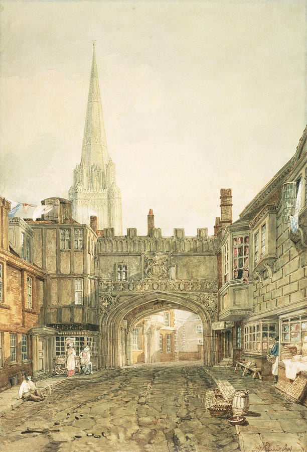 Cathedral Painting - Gateway To The Close, Salisbury by Joseph Mallord William Turner