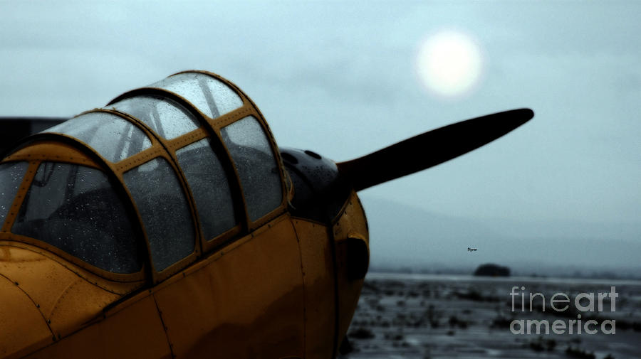 Airplanes Photograph - Gathering Rain Dust - Pt-26 Harvest Yellow by Steven Digman