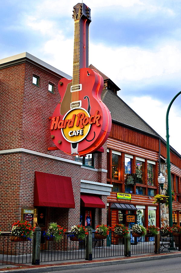 Hard Photograph - Gatlinburg Hard Rock Cafe by Frozen in Time Fine Art Photography