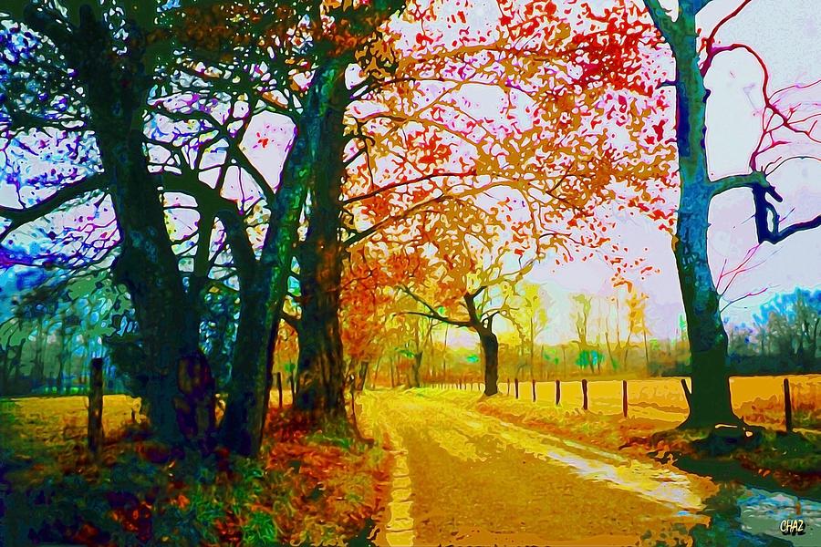 Appalachia Painting - Gatlinburg In The Rain by CHAZ Daugherty