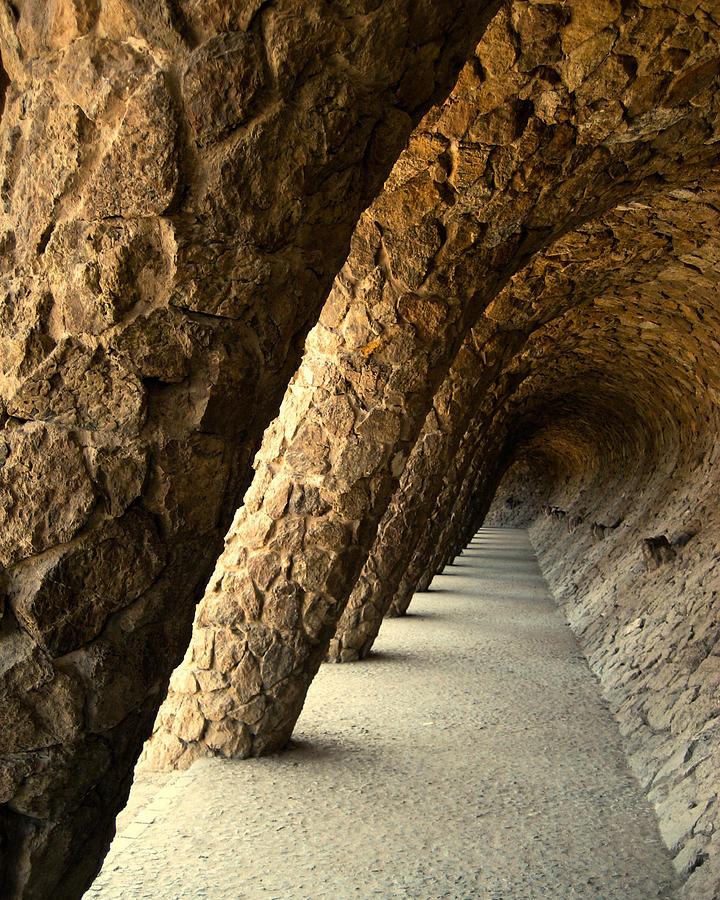 Gaudi Photograph - Gaudi Columns by Todd Hartzo