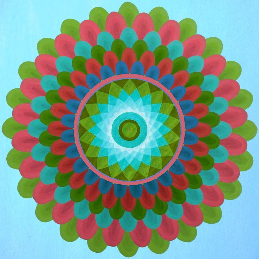 Gaudy Mandala Painting by Vlatka Kelc