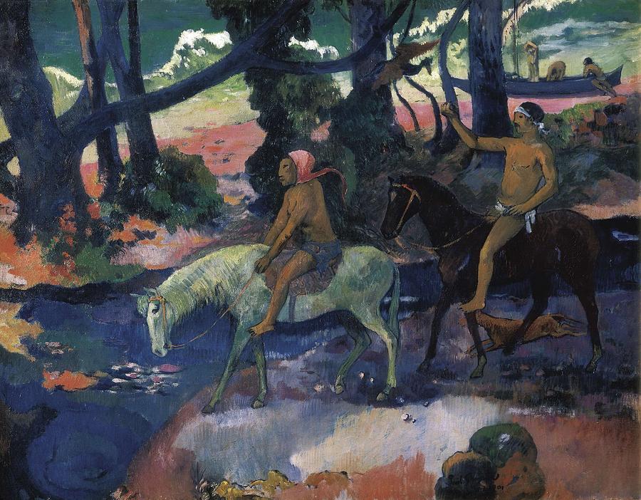 Horizontal Photograph - Gauguin, Paul 1848-1903. Ford Running by Everett