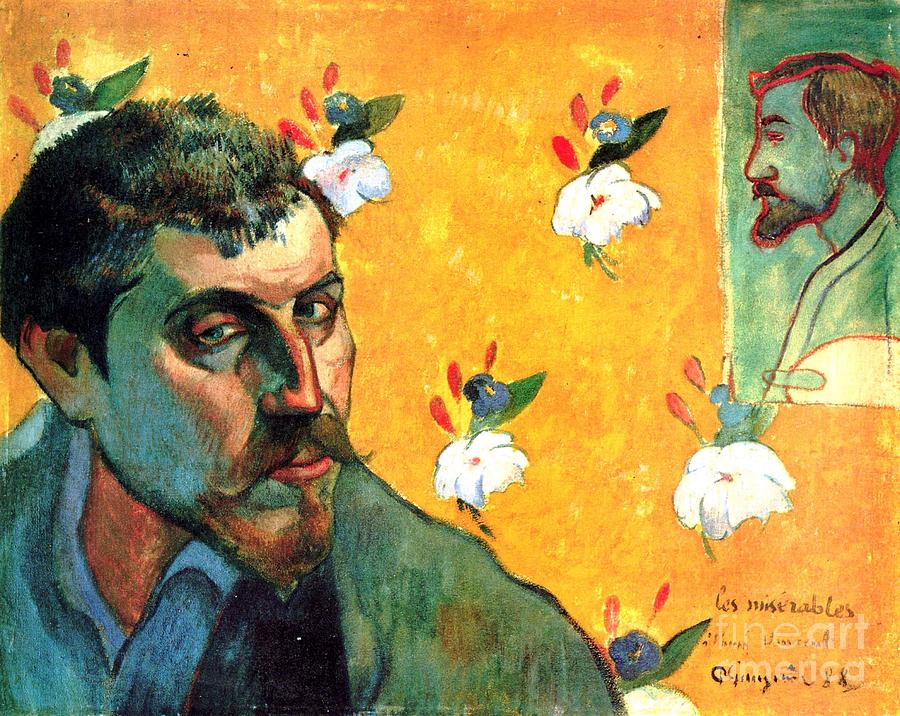Gauguin Painting - Gauguin Self Portrait - As Jean Valjean by Pg Reproductions