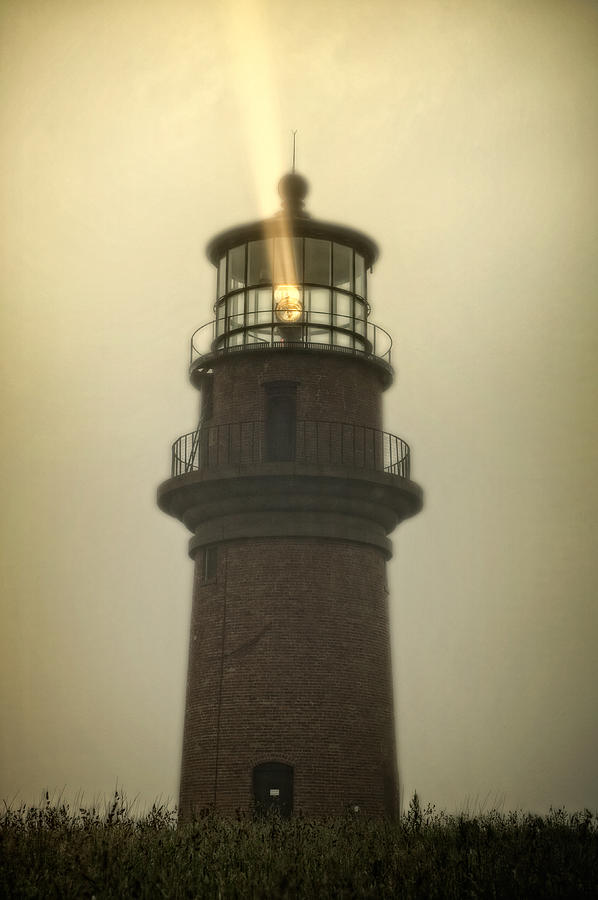 Lighthouse Photograph - Gay Head Lighthouse in the Fog by William Britten