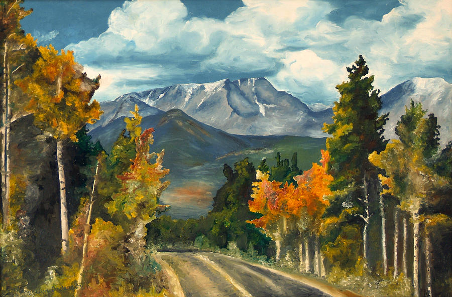 Landscape Painting - Gayles Highway by Mary Ellen Anderson