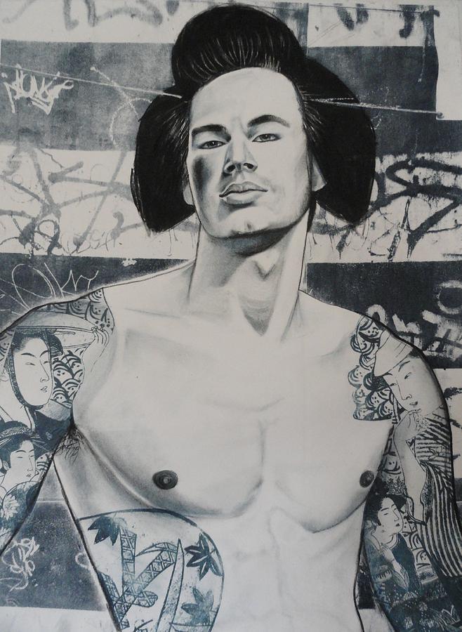 Male Nude Mixed Media - Gaysha by Carmine Santaniello