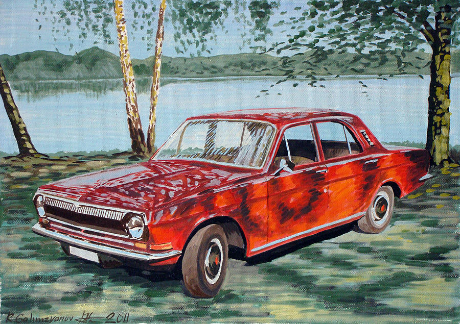 gaz 24 volga painting by ildus galimzyanov. Black Bedroom Furniture Sets. Home Design Ideas