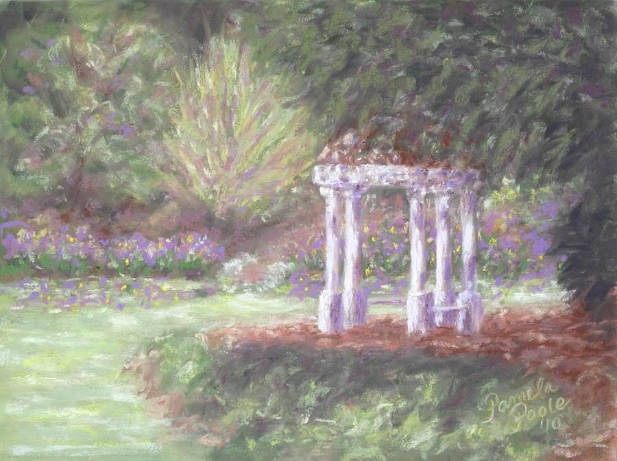 Gazebo Painting - Gazebo At Hopelands In Spring by Pamela Poole