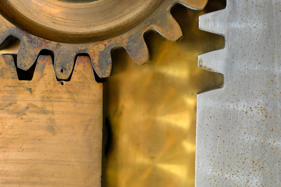 Gears Photograph - Gear Abstract by Bill Mock