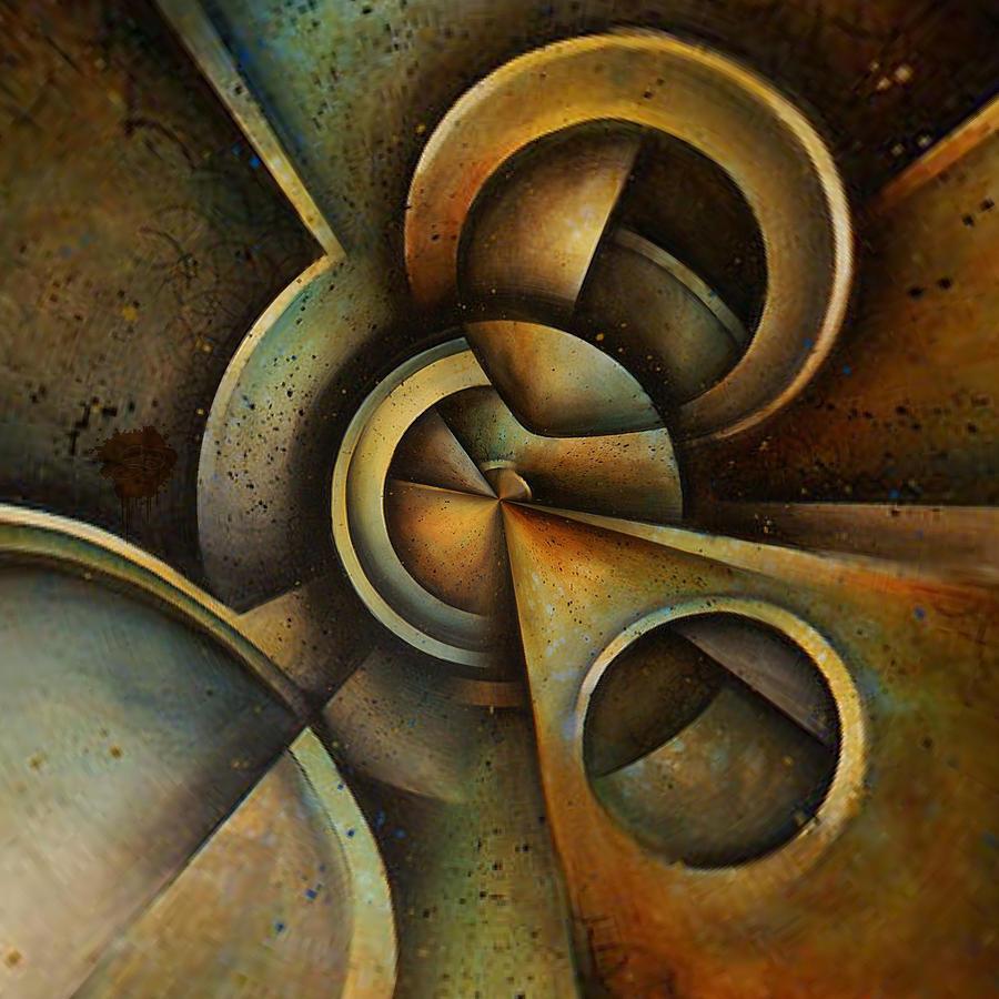Neutral Digital Art - Geared Towards by Lisa Schwaberow