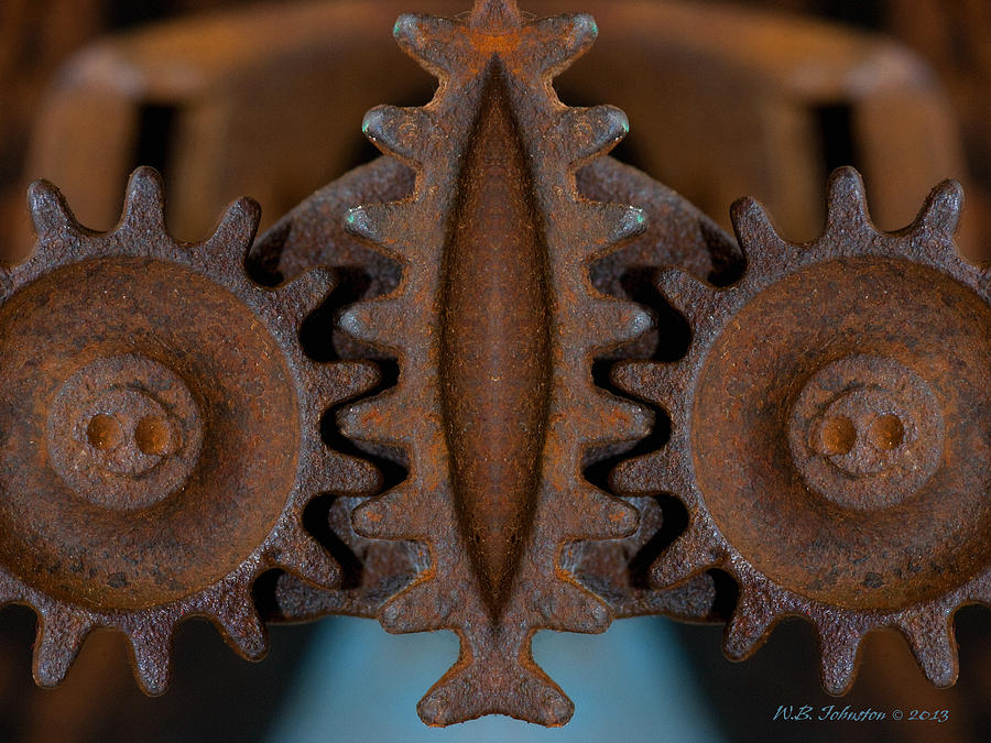 Rust Photograph - Gearing Up by WB Johnston