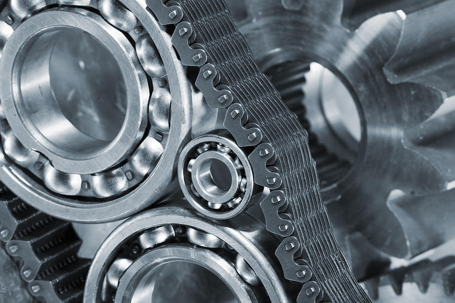 Gears Photograph - Gears And Cogs Titanium And Steel Power by Christian Lagereek