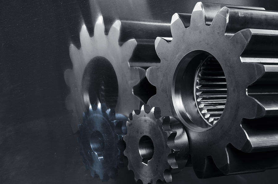 Gears Photograph - Gears And Power by Christian Lagereek
