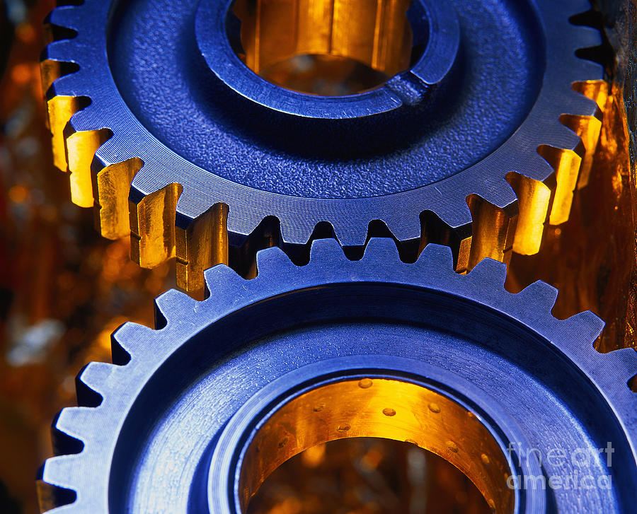 Technology Photograph - Gears by Terry Why