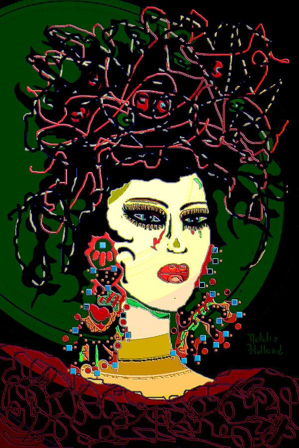 Geisha Mixed Media - Geisha 6 by Natalie Holland