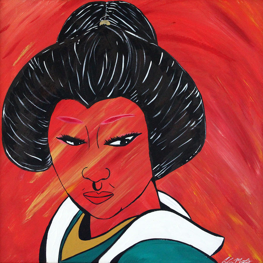 Geisha Painting - Geisha by Carlos Martinez