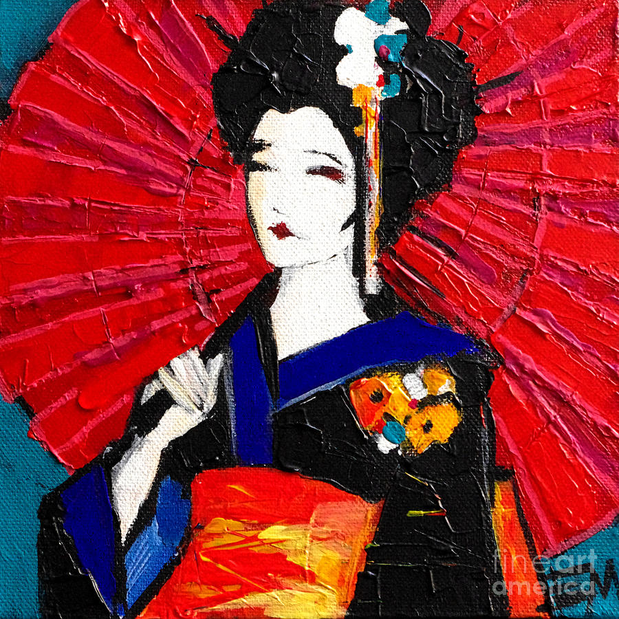 Geisha Painting - Geisha by Mona Edulesco