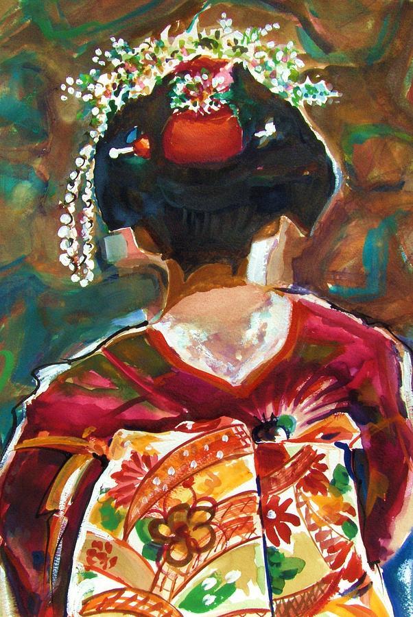 Geisha Painting - Geisha Girl by Therese Fowler-Bailey