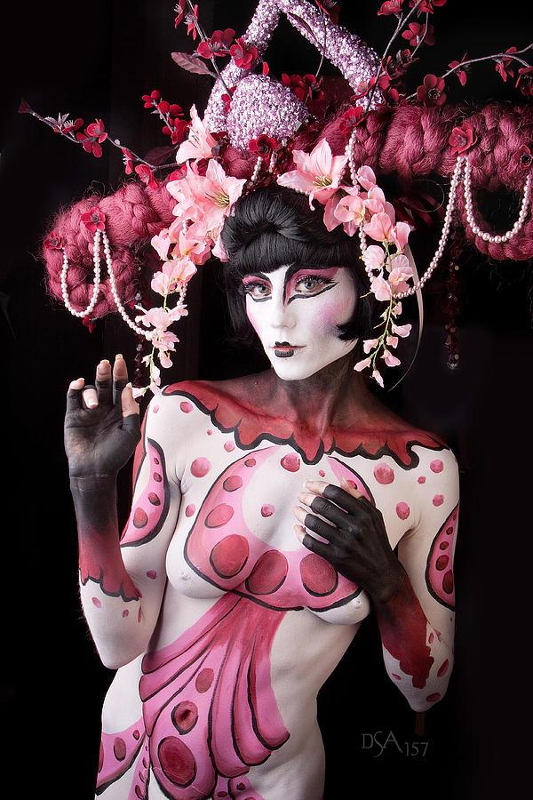 Body Paint Photograph - Geisha I by David April