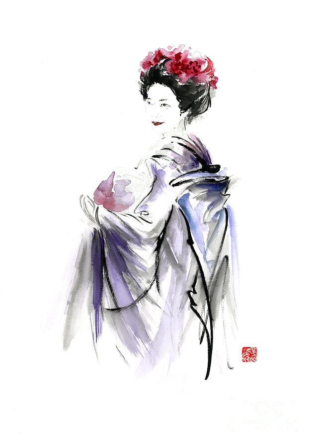 Geisha Body Painting