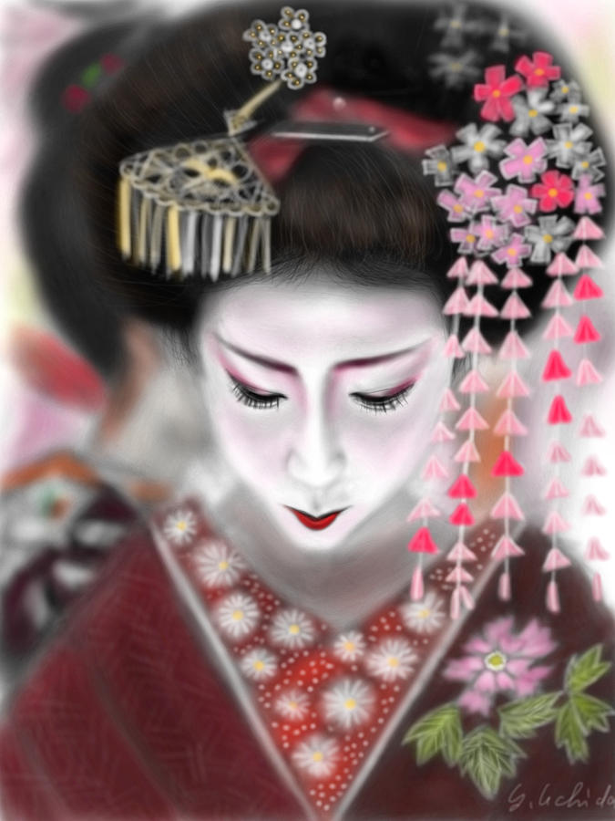Geisha No.2 Painting by Yoshiyuki Uchida