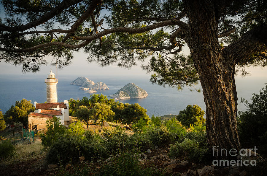 Asia Photograph - Gelidonia lighthouse in the late afternoon by OUAP Photography