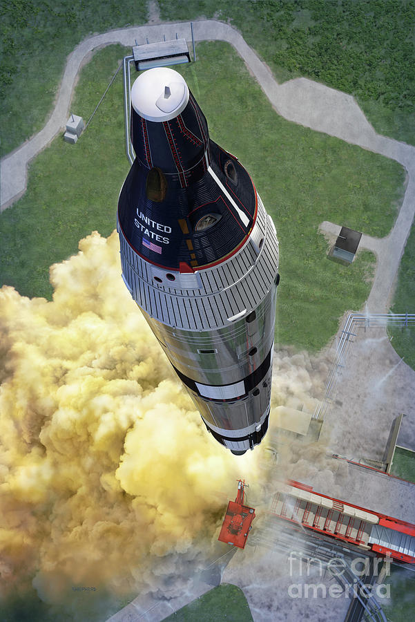 Gemini Digital Art - Gemini Titan Launch by Stu Shepherd