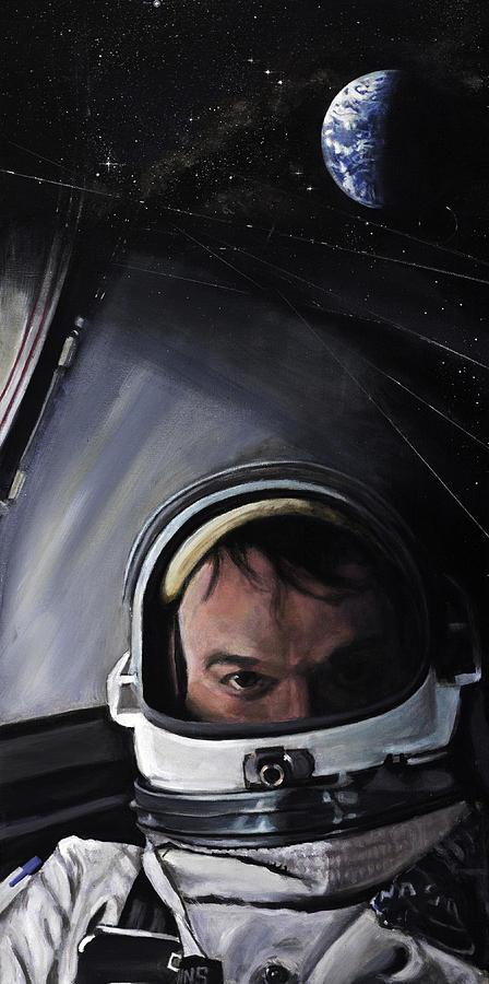 Nasa Painting - Gemini X- Michael Collins by Simon Kregar