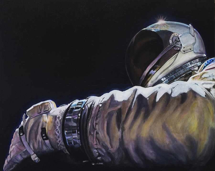 Nasa Painting - Gemini Xi - Into The Void by Simon Kregar