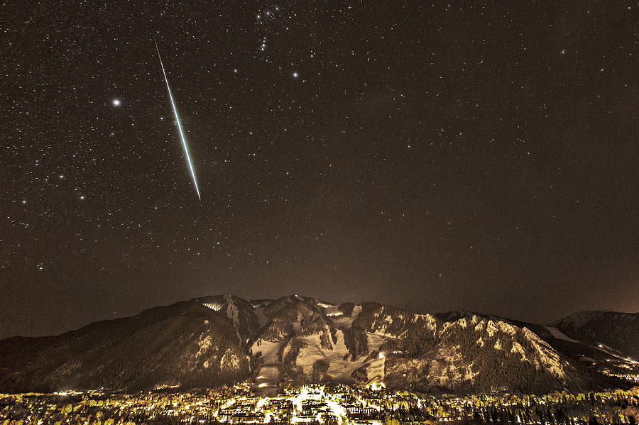 Geminid Meteor Shower Photograph - Geminid Meteor Shower Aspen by Tom Cuccio