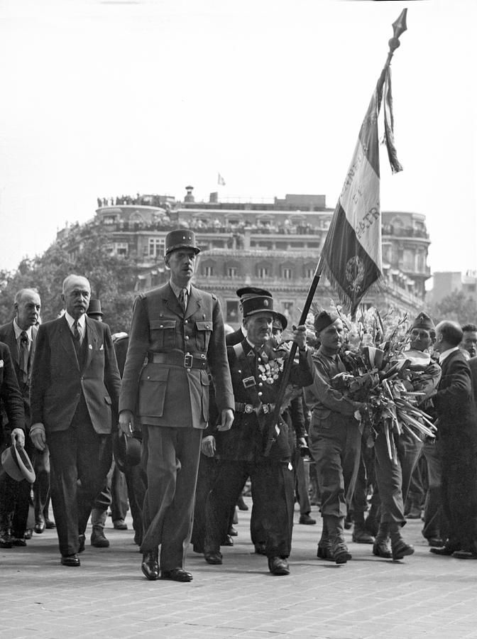 1944 Photograph - General Charles De Gaulle by Underwood Archives