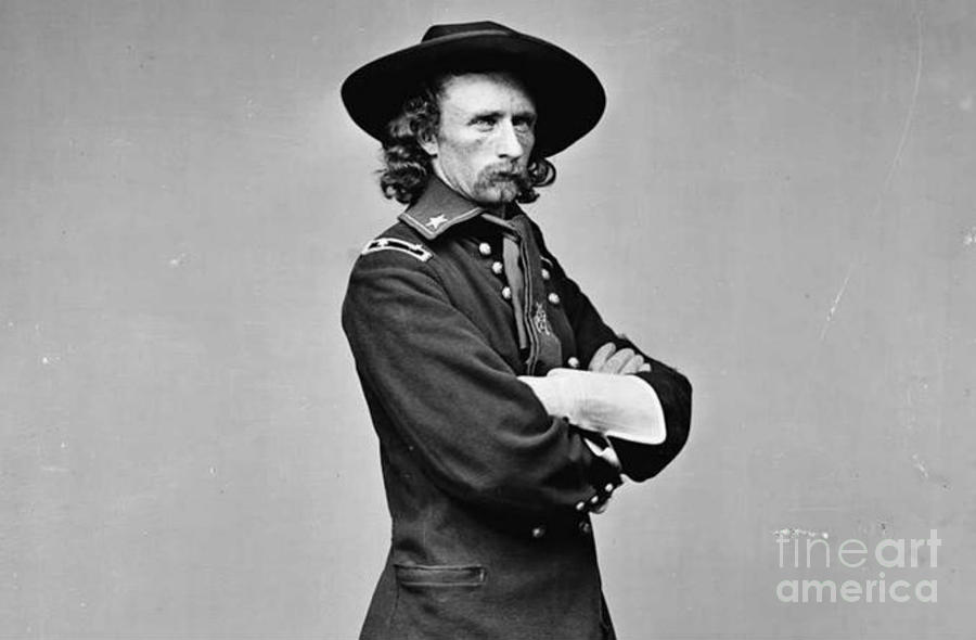 Little Big Horn Photograph - General George Armstrong Custer Killed 1876 Little Big Horn  by David Call