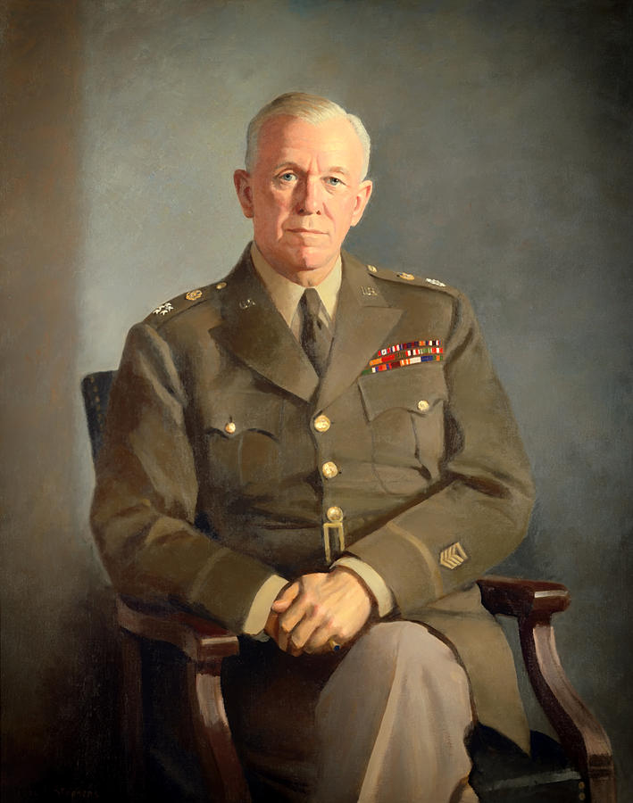 Painting Painting - General George C Marshall by Mountain Dreams