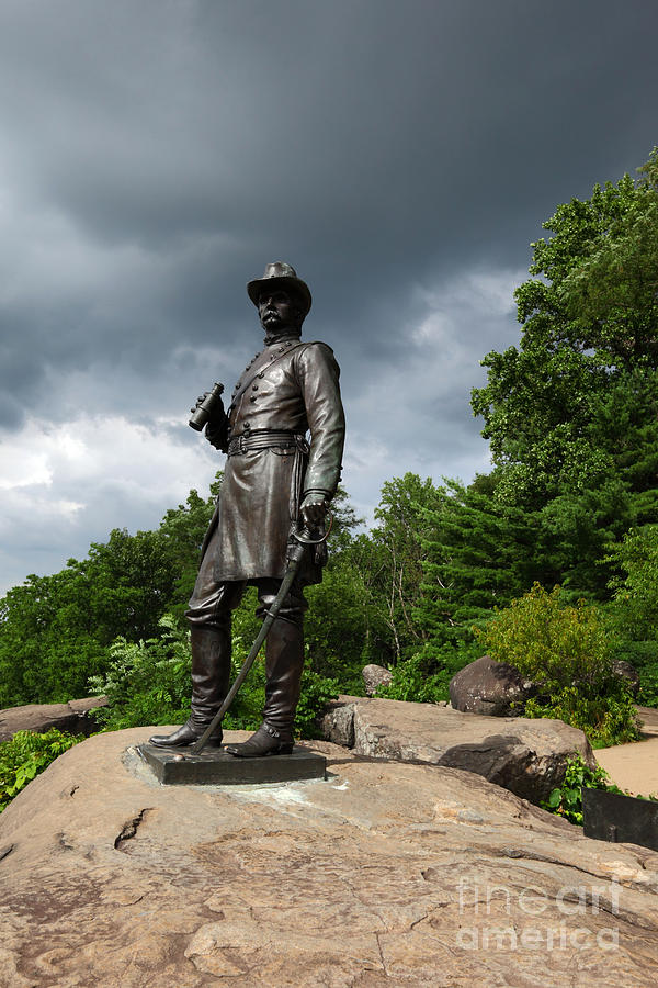 Gettysburg Photograph - General K Warren Monument Gettysburg by James Brunker