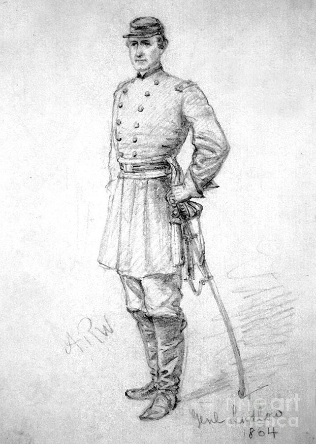 general ludlow civil war sketch 1864 digital art by randy steele