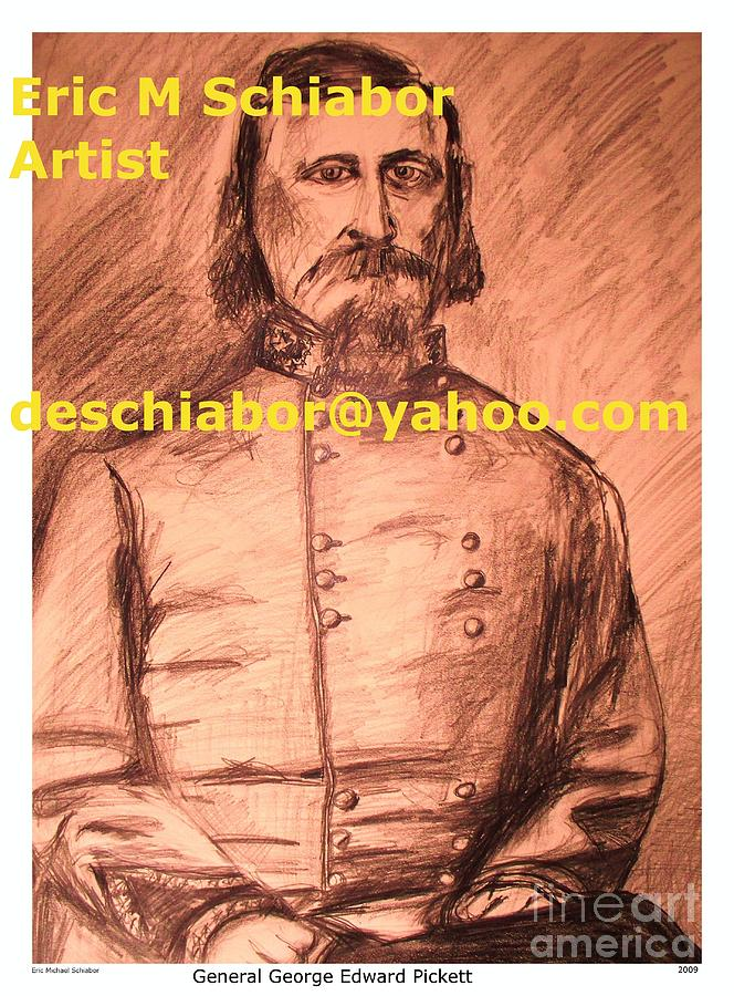 General Pickett Painting - General Pickett Confederate  by Eric  Schiabor