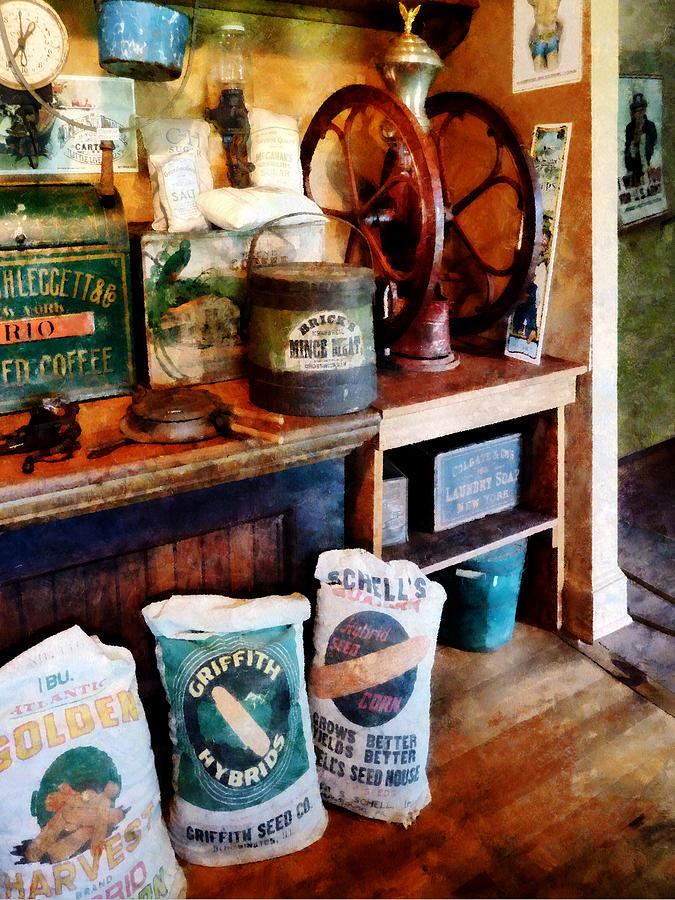 Coffee Grinder Photograph - General Store by Susan Savad