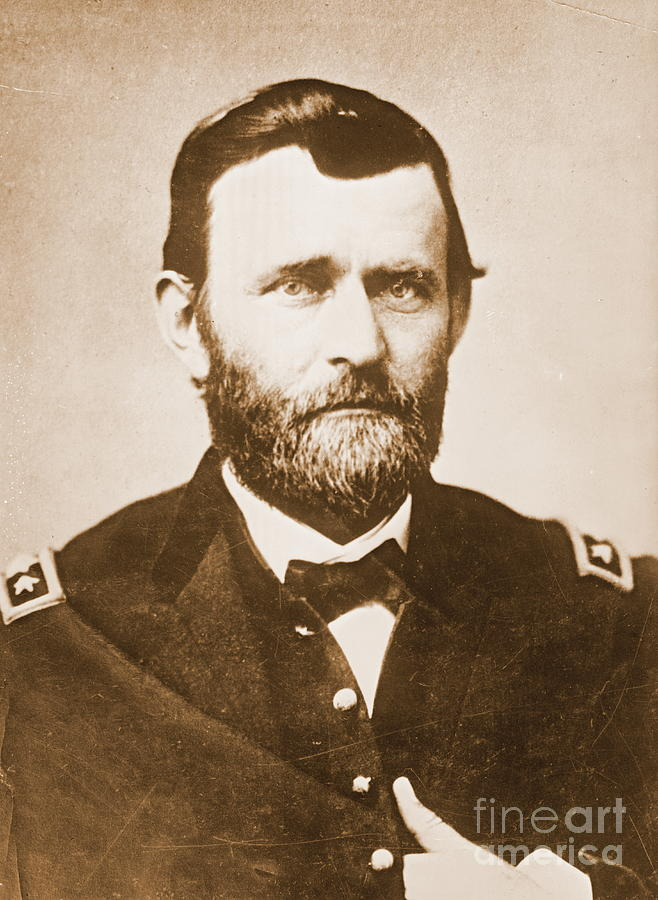 Civil War Photograph - General Ulysses Grant C1865 by Padre Art