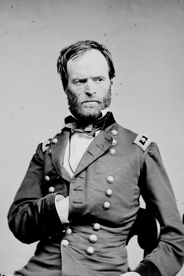 General William T Sherman Photograph By History Cases