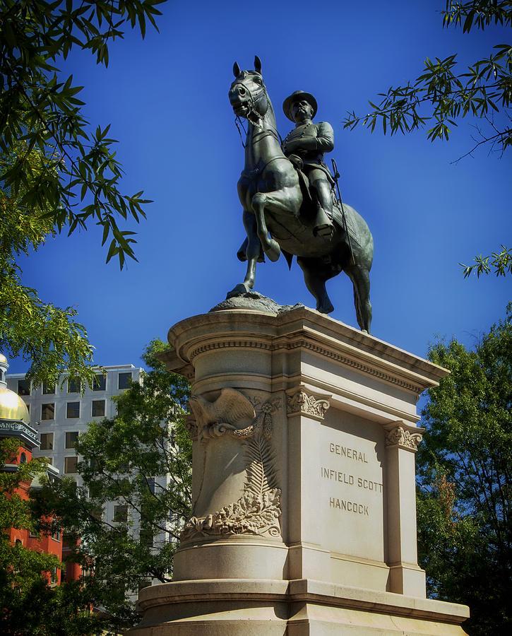 Washington D.c. Photograph - General Winfield Scott Hancock Statue - Washington Dc by Mountain Dreams