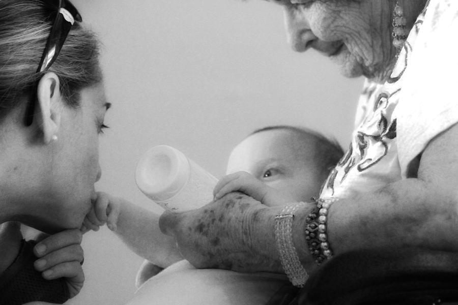 Great Grandmother Photograph - Generations by Carolina Liechtenstein