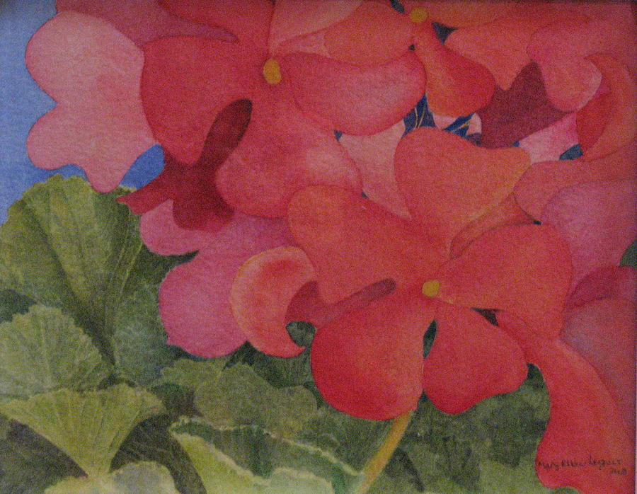 Florals Painting - Generium by Mary Ellen Mueller Legault
