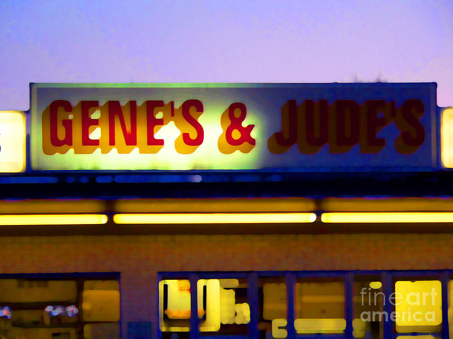 Hot Dog Stand Photograph - Genes  And Judes by David Bearden