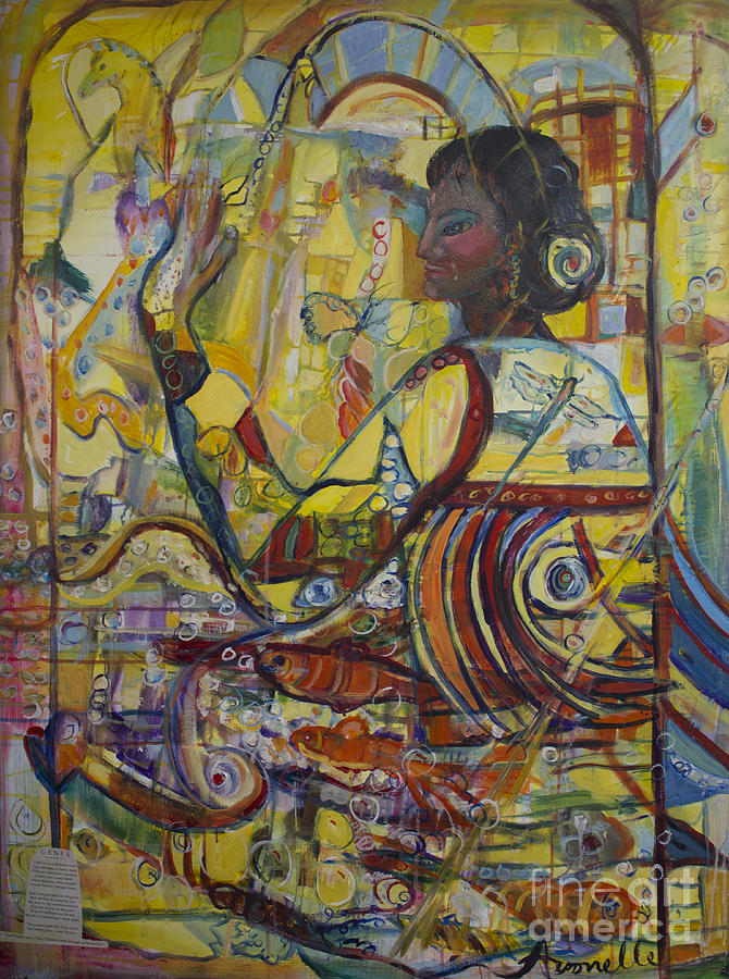 Evolution Painting - Genes by Avonelle Kelsey