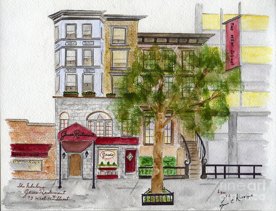 Gene's Restaurant in Greenwich Village by AFineLyne